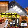 150/300/450 LED Lampione Stradale Faro Led Pannello Solare Telecomando Display