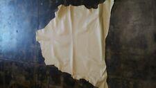 Italian Goatskin Leather Goat Skin Hide Shiny Vanilla - 5 Sq.Ft. 3 oz.