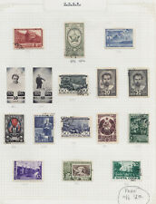 1941-1946 SOVIET ISSUES USED - CTO- AND MINT  ON PAGE ALBUM