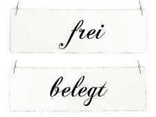 Vintage Shabby Schild Türschild FREI - BELEGT Holzschild Ferienwohnung Ferienhau
