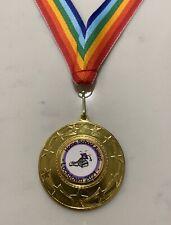 Well Done Home Schooling Lockdown 2021 Medal. 50mm Metal Medal + Rainbow Ribbon.