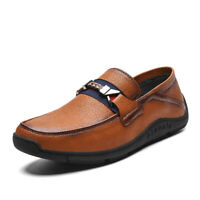 Mens Oxford Leather Loafer Shoes Fashion Moccasin-gommino Driving Slip on Lazy