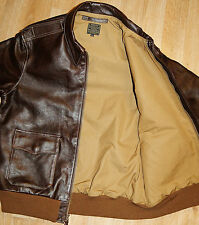 Aero A-2 Military Flight Jacket 44 Seal Italian Horsehide Leather Jacket