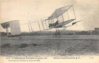 CPA AVIATION L´AEROPLANE FARMAN EN PLEIN VOL Gd PRIX DE L'AVIATION LE 13 JANVIER
