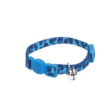 """COASTAL SAFE CAT BLUE LEOPARD SAFETY 6""""-8"""" BREAKAWAY COLLAR FREE SHIP IN THE USA"""