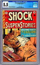 SHOCK SUSPENSTORIES #12 CGC 5.5 CONTROVERSIAL *HEROIN ADDICT* CVR STORY EC 1954