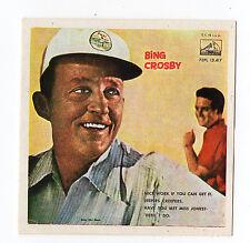 1960 Spanish Film Star Sticker Stamp American Crooner Bing Crosby