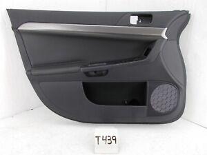NEW OEM DOOR TRIM PANEL FRONT LEFT DRIVER LANCER 08-17 BLACK NICE SILVER LEATHER
