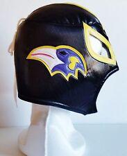 Baltimore Ravens Wrestling Mexican Luchador Soft Mask NFL Fans Black Purple