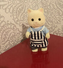 sylvanian families Maurice Chantilly Cat Figure Bbq Outdoor Vgc