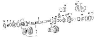 3rd Gear Mainshaft Andrews 206215 For Harley-Davidson E V Twin 61 EL F 74 FL