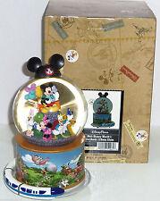 Disney Storybook Mickey Minnie Musical Snowglobe Theme Park Read Description