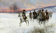 JAN VAN CHELMINSKI  Napoleon and Generals   Wall Art  Canvas