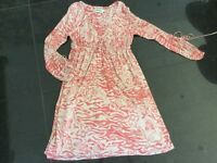 Alice By Temperley New & Genuine Ladies UK Size 8 Salmon Pink Silk Blend Dress
