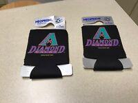 MLB Arizona Diamondbacks Vintage Baseball Team Felt Can / Drink Cooler Set of 2