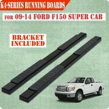 """For 09-14 FORD F150 Super/Ext Cab 4"""" Black Nerf Bar Running Board Side Step"""