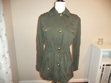 Michael Kors Ivy Green Basic Military Style Jacket $250 msrp BRAND NEW MEDIUM