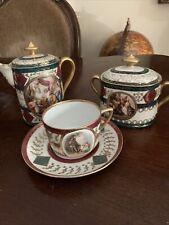 Royal Vienna Czechoslovakia Coffee Tea Set 4 Pieces See Detail