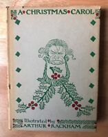A Christmas Carol Illustrated by Arthur Rackham HB/DJ Color  1960 Vintage