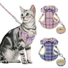 Pet Cat Walking Jacket Harness&Leash Puppy Mesh Padded Vest Pink Blue Adjustable