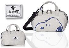 PEANUTS SNOOPY 2Way Mini Shoulder Bag Tote Purse Pouch Handbag Japan 5916