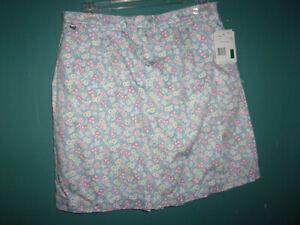 NWT LizGolf (Liz Claiborne) light blue floral skorts  Size 16 (XL)