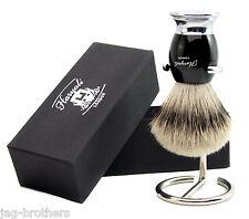 Para Hombres mirada tejón brocha de afeitar (pelo sintético Cepillo, Cepillo Stand & Caja de la marca)