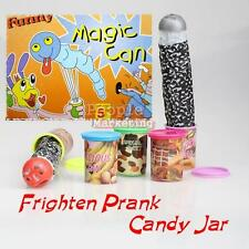 Crazy Jokes Candy Sweet Jar lid Jump Out With Voice Candy Sweet Jar