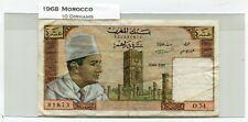 1968 Morocco 10 Dirhams, printed at Banque de France, Lion watermark.