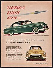 1953 OLDSMOBILE Futurmatic 98 Green 4-door Sedan Vintage Print Classic Car AD