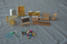 Large Lot of Calico Critters Dollhouse Furniture and Other Small Items
