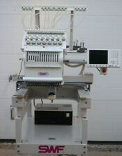 SWF 1501C SWF/E-T1501C 15 NEEDLE COMMERCIAL EMBROIDERY MACHINE w/ EXTRAS