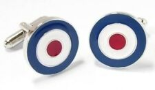 Target Roundel RAF Air Force Military Metal Aircraft Cufflinks MODS Scooter 2019