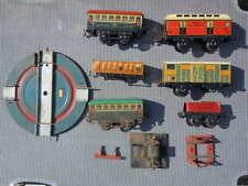 Train échelle O Wagons rails Pullman Car postes et télégraphe Wagon bestiaux Lot