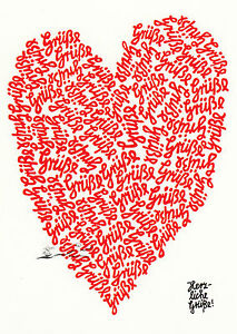 Kunstkarte / Postcard Art - Frantz Wittkamp:  Herzliche Grüße