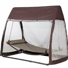Outdoor Canopy Cover Hanging Swing Hammock with Mosquito Net 7.6x4.5x6.7 Ft