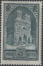 """FRANCE STAMP TIMBRE N° 259 """" CATHEDRALE REIMS 3F TYPE I """" NEUF xx TTB  H252"""
