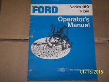 FORD 150 PLOW OPERATORS MANUAL