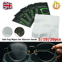 1-20Pcs Reusable Anti-Fog Glasses Lens Fabric Cleaning Cloth Wipe Defogger Cloth