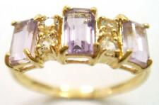 SYJEWELRYEMPIRE BEAUTIFUL 10KT YELLOW GOLD NATURAL AMETHYST RING SIZE 7 R1119