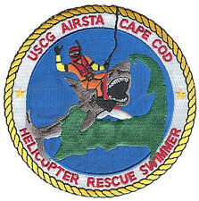 Air Station Cape Cod Rescue Swimmer shark hoist W5320 USCG Coast Guard patch