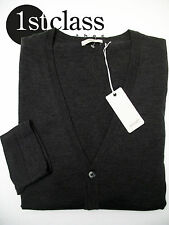 Joop! CARDIGAN DEVON GRIGIO SCURO IN XXXL in 100% lana vergine slim fit