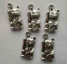 10pcs Tibetan silver cat charms pendant 23x12 mm