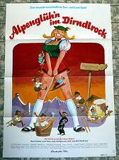 Alpenglüh´n im Dirndlrock * A1-Filmposter EA -1974 E. Volkmann KLAUS DILL