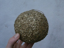 Palla di Natale addobbo festone decorazione oro 12 cm di diametro fatta a mano