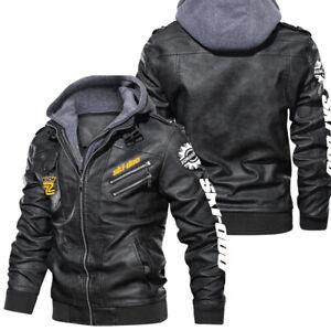 Ski-Doo MACH Z - Poly Leather Jacket, BEST GIFT,NEW JACKET