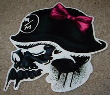 "METAL MULISHA Pink Fang Skull Skate Sticker 5.5"" motocross skateboard decal"