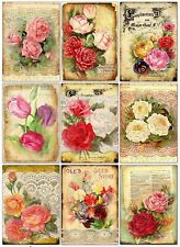 Summer Flowers Glossy Finish Card Toppers - Crafts Embellishment
