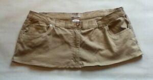 """9"""" Length Beige Desert Micro Mini Skirt Plus Size 20 / 22"""