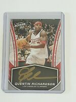 Quentin Richardson Auto Clippers 2018-19 Panini Instant Gold Ink 22/25